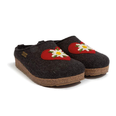 HAFLINGER Women's Heidi Wool Clogs