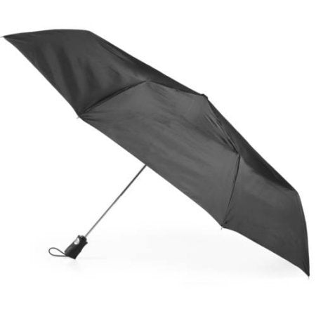 "TOTES AUTO OPEN WATER REPELLENCY UMBRELLA LARGE COVERAGE 43"" arc"