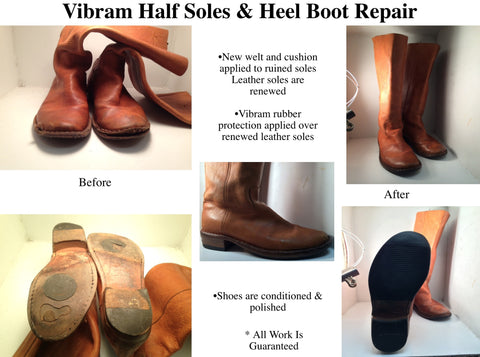 Boots Half Sole and Heels