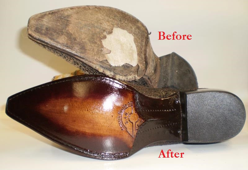 Men S Leather Full Sole Replacement Model Shoe Renew
