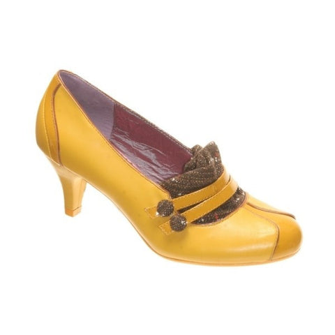 Poetic Women's Licence Love Letter Heels Yellow