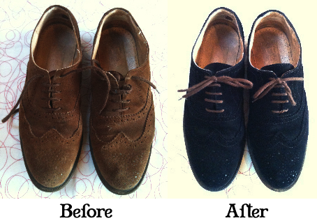 how to get emulsion paint off suede