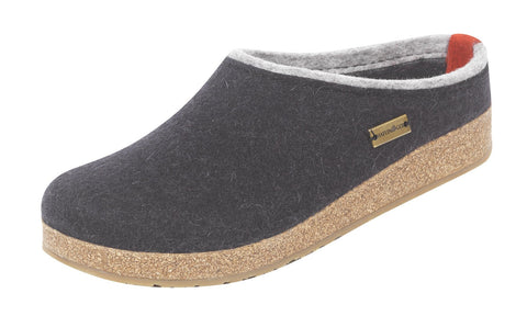 Haflinger Women's Grizzly Kris Boiled Wool Clog