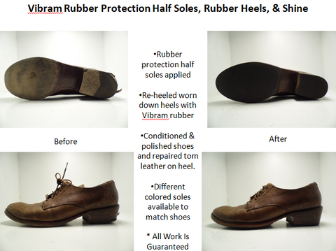Men's Rubber Half Sole & Heel Replacement