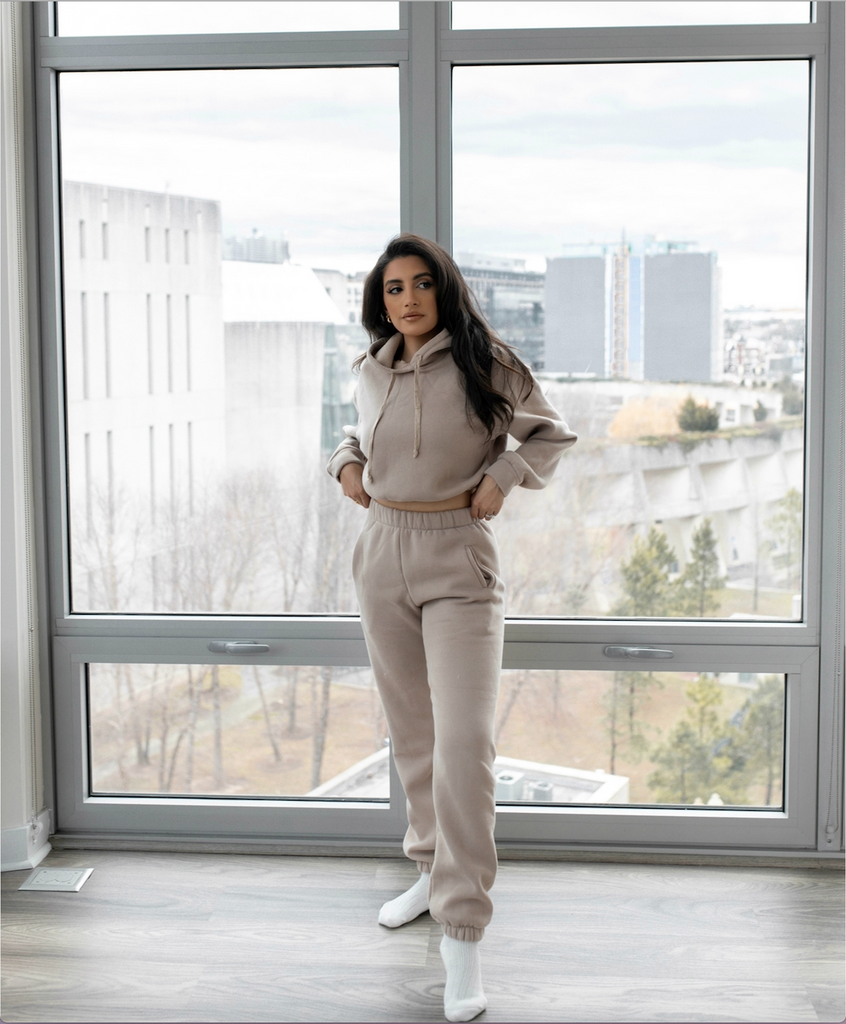 Rachel Hoodie and Sweat Pant Set Taupe
