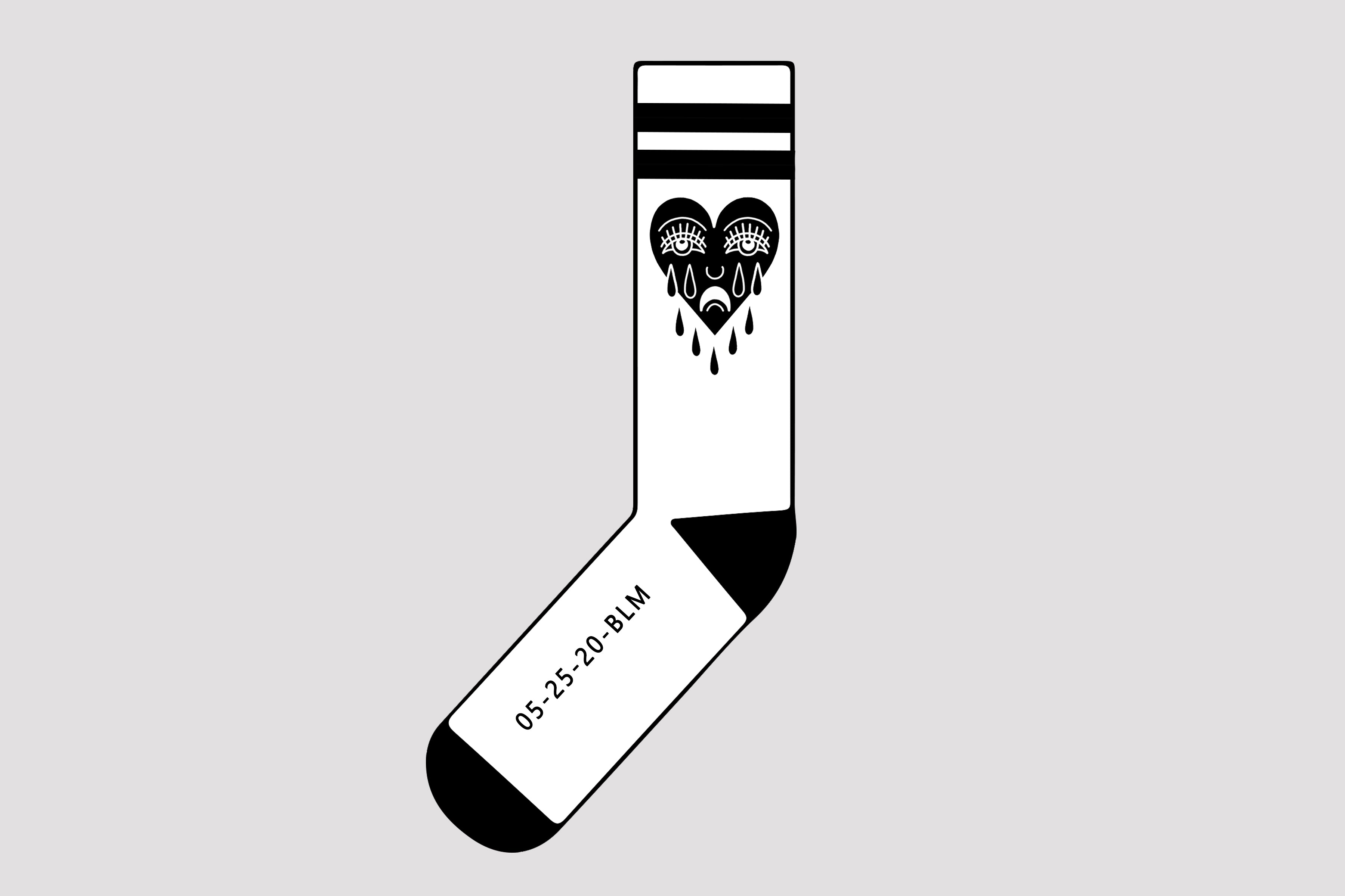 CRYING HEART Socks - In Support of BLM Aligned Organizations