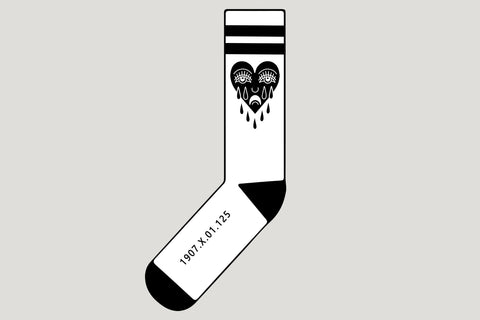 1907.X.01.125 - CRYING HEART Socks