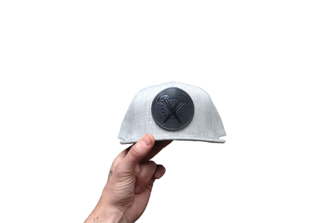 Logo'd Snapback - Light Grey