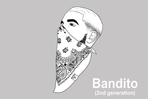 BANDITO  (2nd Gen) - 3-Layer Cotton Mask w/ Filter