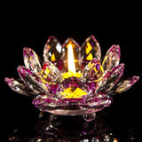 Colorful Lotus Flower Candle Holder