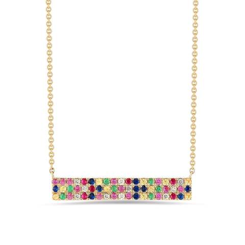 Rainbow Swarovski Elements Pendant Necklaces