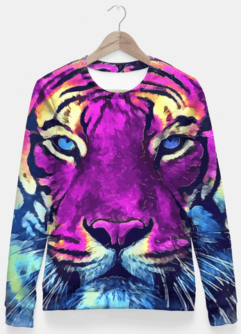 Purple Tiger Spirit Sweater