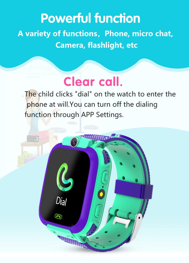 Kid Smart Watch Waterproof Voice Chat  Location Tracker Anti Lost Monitor - Just Kiddin' Outlet