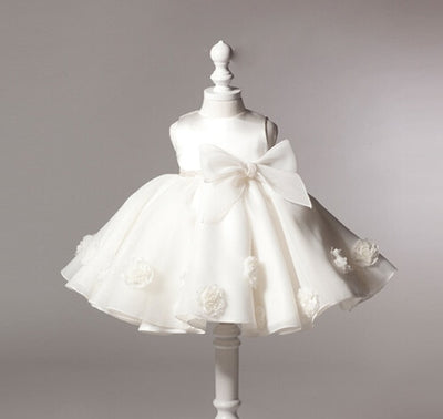 Baby Girl Formal White Gown - Just Kiddin' Outlet