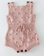 Handmade Knitted Pompom Rompers - Just Kiddin' Outlet