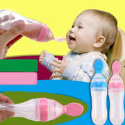 Silicone Feeding Bottle with Spoon - Just Kiddin' Outlet