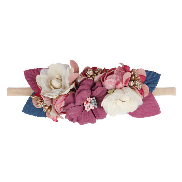 Baby Headband Flower For Girls - Just Kiddin' Outlet