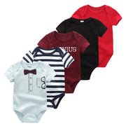 5PCS Newborn Onesies 100%Cotton 0-12M - Just Kiddin' Outlet