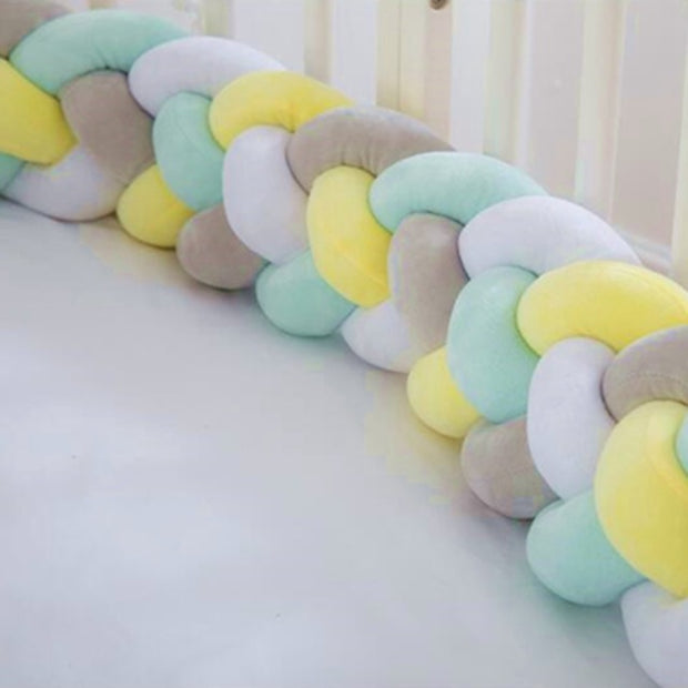 Double-Braided Newborn Crib Bumper - Just Kiddin' Outlet