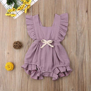 Ruffled Sleeveless Backless Romper Jumpsuit - Just Kiddin' Outlet