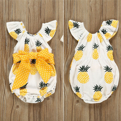 Pineapple Print Romper - Just Kiddin' Outlet