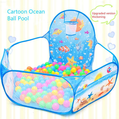 Folding indoor ocean ball pool with 10 balls - Just Kiddin' Outlet