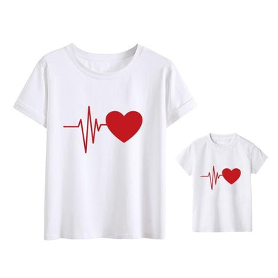 Beating Heart Matching T Shirt - Just Kiddin' Outlet