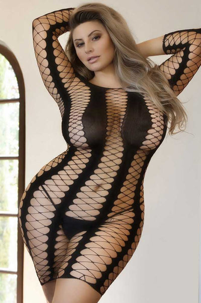 Plus Size Fishnet Bodystocking | Sexy Fishnet Body Stocking | Coy Fox Boutique