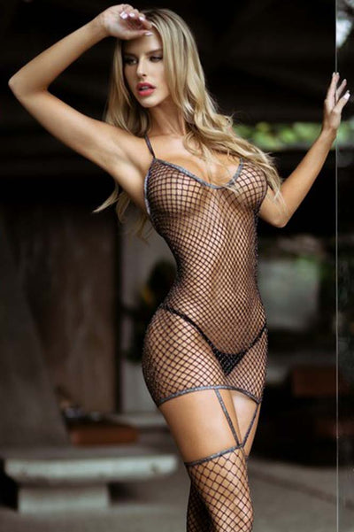 Black Lace Fishnet Bodystocking | Fishnet Bodystocking | Coy Fox
