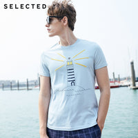 SELECTED Men's Summer Collection 100% Cotton Casuals Russian Embroidery Short-sleeved Premium Quality T-shirt