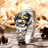 Relogio New Release 2020 Collection Luxurious Waterproof Mechanical Stainless Steel Black Silver Gold Blue Band Business Wrist Watches for Stylish Sophisticated Men