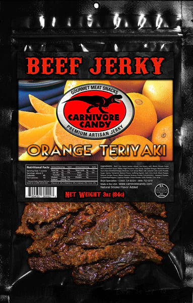 3 oz Beef Jerky Bag - Orange Teriyaki