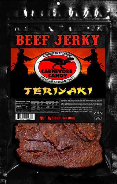 3 oz Beef Jerky Bag - Teriyaki