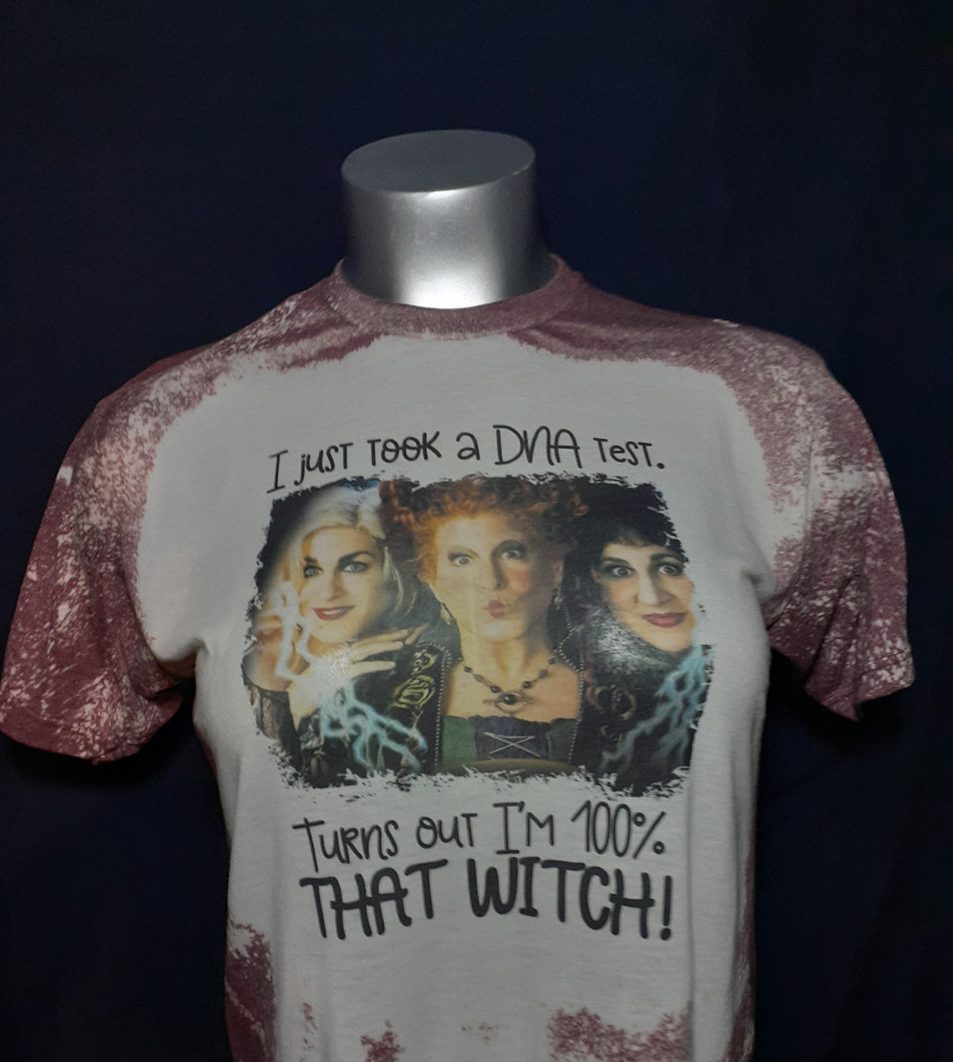 Bleached Sublimation 100% That Witch