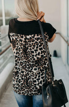 Load image into Gallery viewer, Leopard Printed Splicing T-Shirt