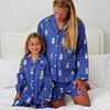 Personalised Blue Pineapple Print Pyjamas