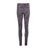 Line Patterned Leggings - Charcoal
