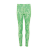 Line Patterned Leggings - Green