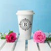 Personalised Ceramic Travel Mug - Big Initial
