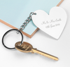 Personalised Heart Charm Keyring