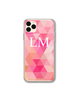 Personalised Pink Geo Print phone Case - LG