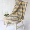 Personalised Stripey Wool Blanket