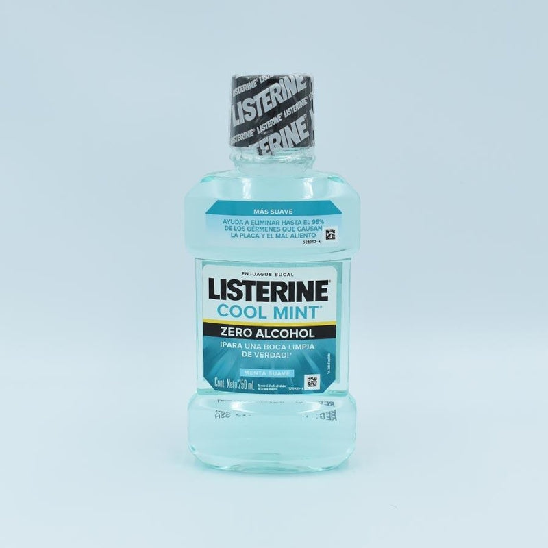 LISTERINE COOL MINT ZERO ALCOHOL (MENTA SUAVE) BOTELLA CON 250ML