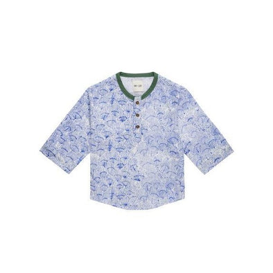 Fin & Zee - Fin Shirt - Blue Floral and green