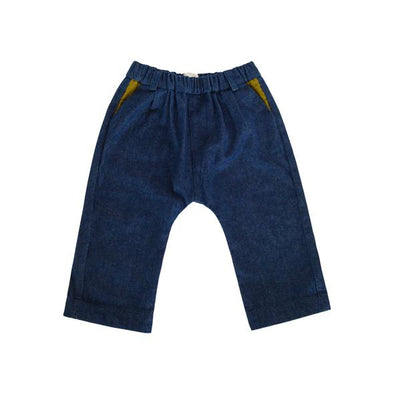 Fin & Zee - Denim Trousers with Detachable Braces - Dark Wash