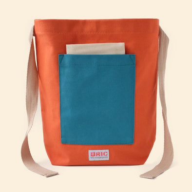 Bric - Furoshiki Pocket Lunch Bag - Burnt Orange & Teal