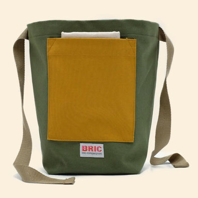 Bric - Furoshiki Pocket Lunch Bag - Fern Green & Gorse Yellow