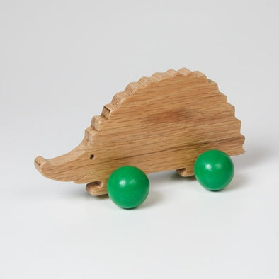 Tegid -  Wooden Push Along Hedgehog