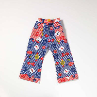 Great & Good Vintage - Unworn Stop / Go Cotton Trousers Blue- 1.5-2yrs