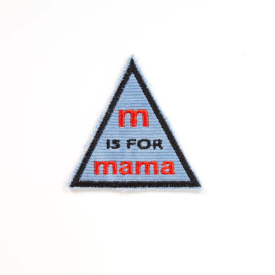 MW Studio - Iron on Cloth Patch  - M is for Mama